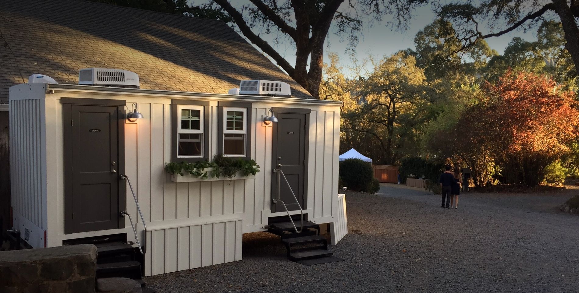 The Water Cottage Portable Restrooms With Design In Mind We